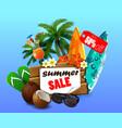 summer sale banner online shopping vector image vector image