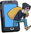 thief smartphone vector image