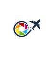 travel camera logo icon design vector image
