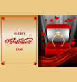 valentines day gift card mockup vector image