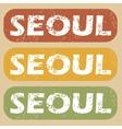 Vintage Seoul stamp set vector image vector image