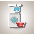 washing machine hang tshirt detergent vector image vector image