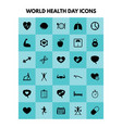 websimple health icons set universal health icon vector image
