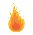 white background with flame icon vector image vector image