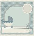 cute baby shower invitation vector image