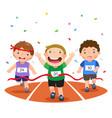 boys on a race track vector image