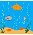 underwater ocean dwellers vector image