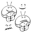 smiley set different grimaces vector image