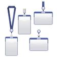 Template Badge Identification Set vector image