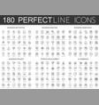 180 modern thin line icons set of business vector image vector image