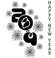 2019 happy new year simple writing black six vector image vector image