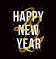 2021 happy new year ox hand drawn text vector image vector image