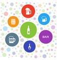 7 pub icons vector image vector image