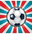 Football ball on abstract background