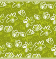 abstract flowers sketch seamless pattern vector image vector image