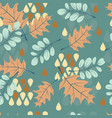 abstract seamless pattern falling leaves vector image vector image