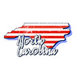 american flag in north carolina state map grunge vector image vector image