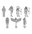ancient egyptian set sketch vector image vector image