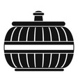 asia vase icon simple style vector image vector image