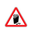 attention french fries dangers of red road sign vector image vector image