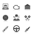 Auto Service Icons vol 2 vector image
