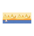 beautiful summer landscape seascape sandy beach vector image