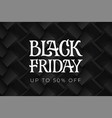 black friday typography on background volume vector image vector image