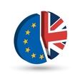 Brexit Pie Chart vector image vector image