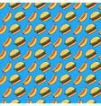 burger and hot dog pattern vector image vector image
