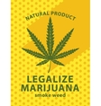 cannabis leaf and labeled legalize marijuana vector image