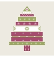 Christmas tree gifts card background vector image vector image