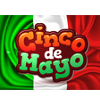 cinco de mayo mexico flag realistic vector image