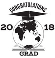 congratulations grad emblem badge template vector image