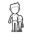 dad and daughter design vector image