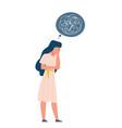 depressed woman oppressed disorder mind solitude vector image
