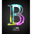 Design Light Effect Alphabet Letter B vector image vector image
