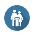 Family Support Icon Flat Design vector image vector image