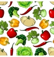 Farm healthy vegetables seamless pattern vector image
