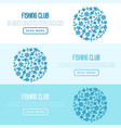 fishing club concept in circle vector image vector image