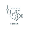 fishing line icon linear concept outline vector image vector image
