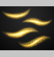gold dust with shiny particles bright shining vector image