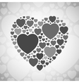 Grey and black heart shape on white background vector image vector image