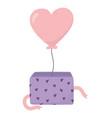 happy valentines day balloon shaped heart love vector image