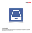 hard disk drive icon - blue photo frame vector image