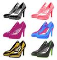 High heels set vector image