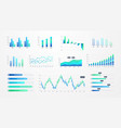 histogram charts business infographic template vector image vector image