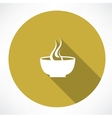 hot plate icon vector image