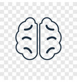 human brain concept linear icon isolated on vector image