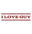 I Love Guy Watermark Stamp vector image vector image