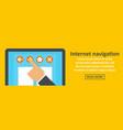 internet navigation banner horizontal concept vector image